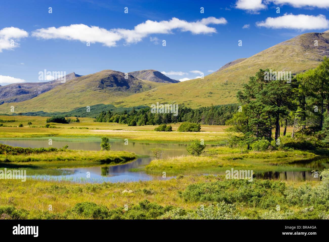 Loch Tulla, schwarzer Berg, Argyll, Schottland. Stockbild
