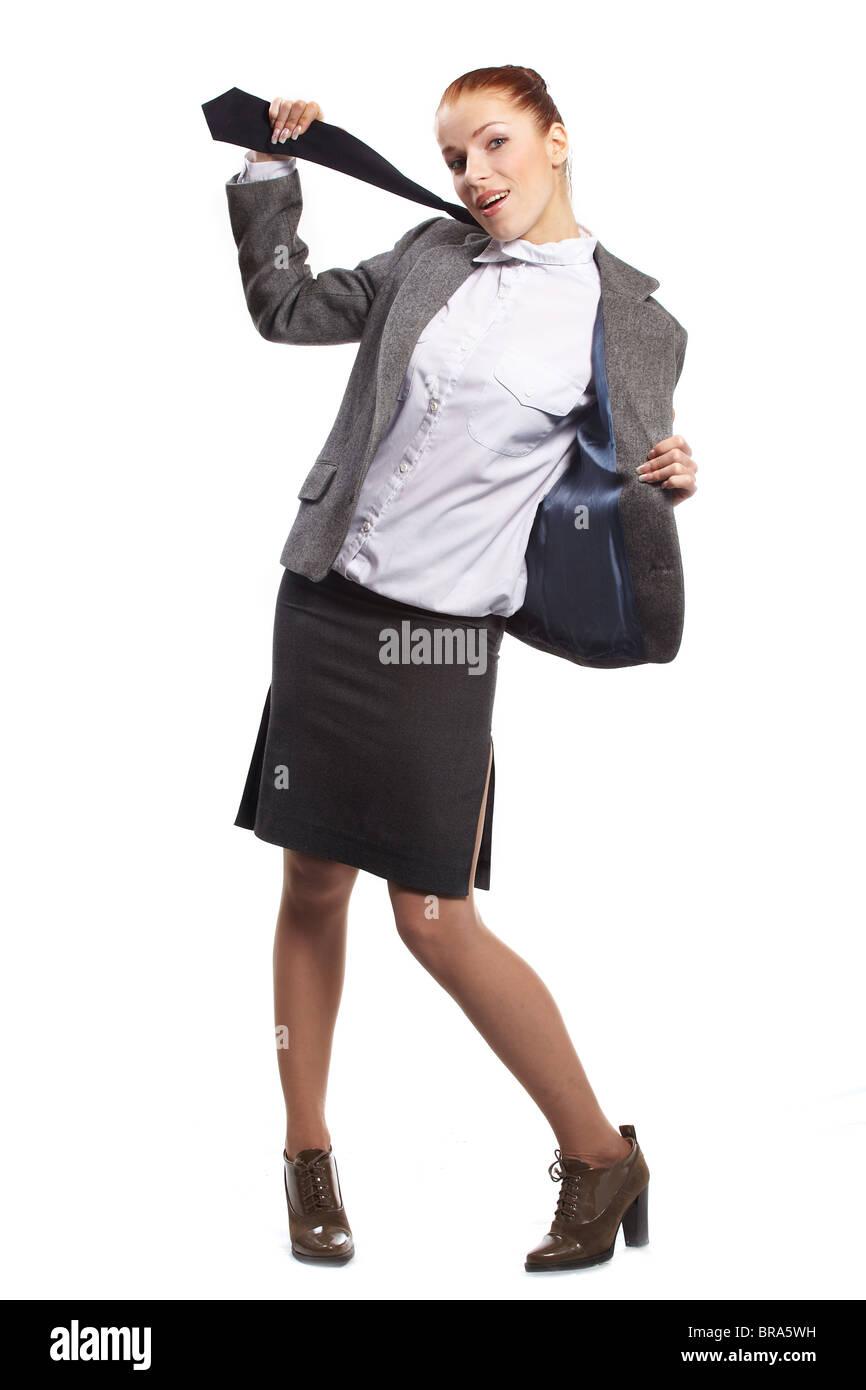 Frau schöne zieht sich aus Stockfotografie - Alamy