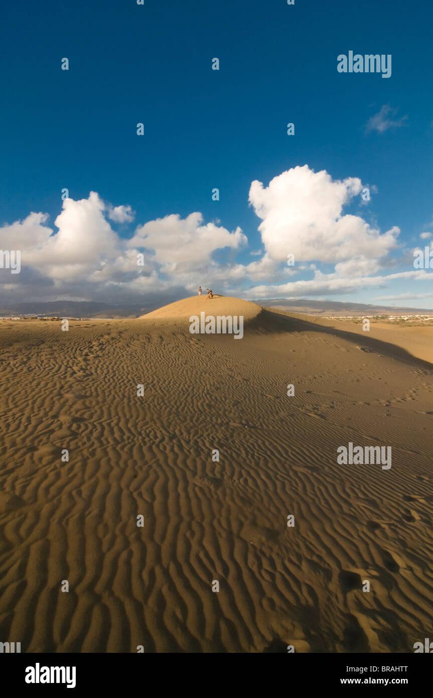 Berühmten Dünen von Maspalomas, Gran Canaria, Kanarische Inseln, Spanien, Europa Stockbild