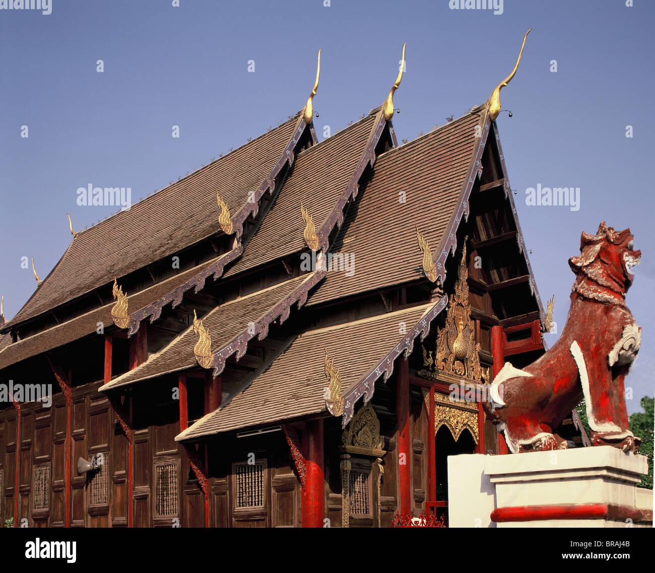 Wat Pantao, ein klassisches Beispiel für Lanna Architektur, Chiang Mai, Thailand, Südostasien, Asien Stockbild