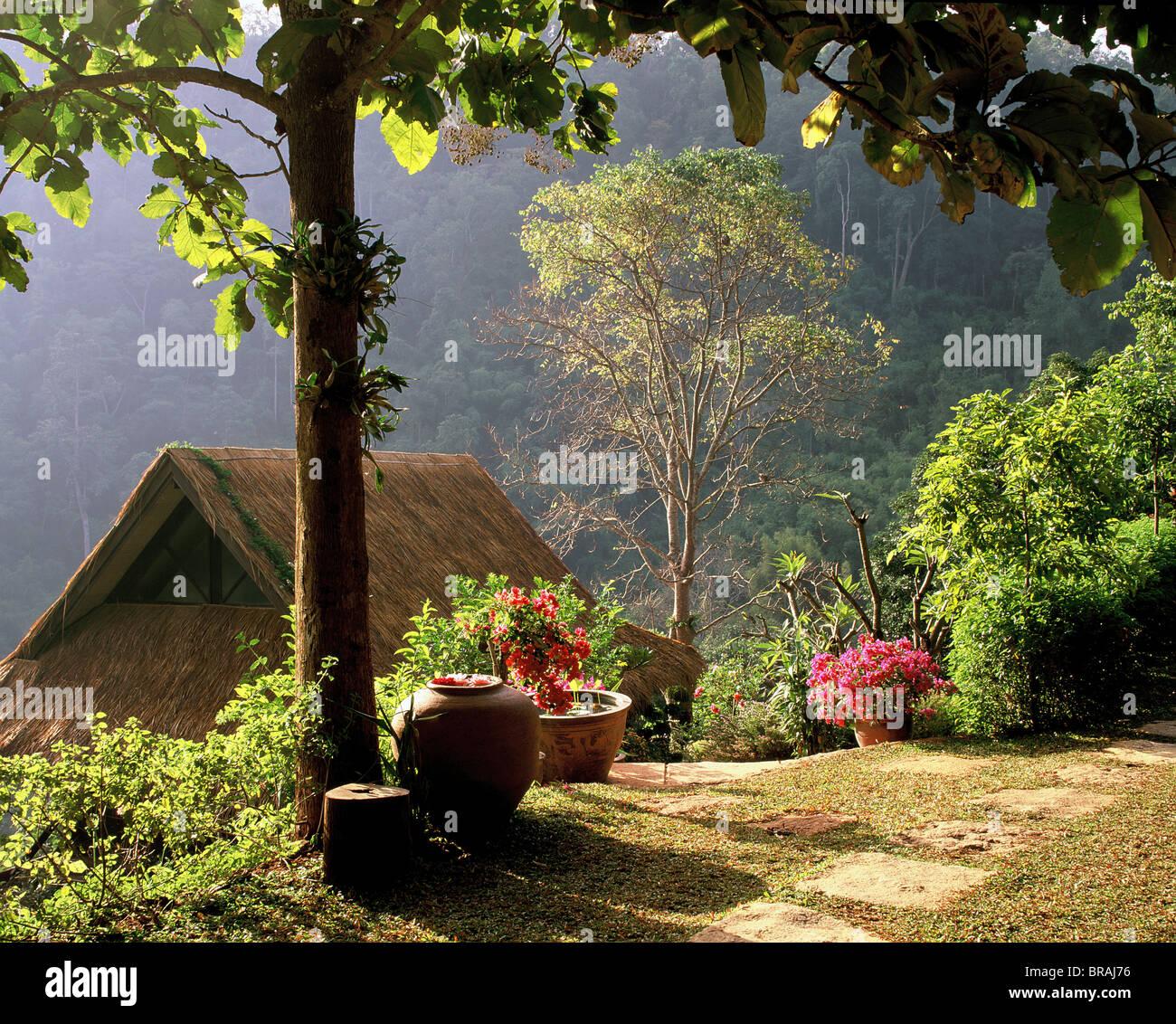 Friedliche Bergwelt, Chiang Mai, Thailand, Südostasien, Asien Stockbild