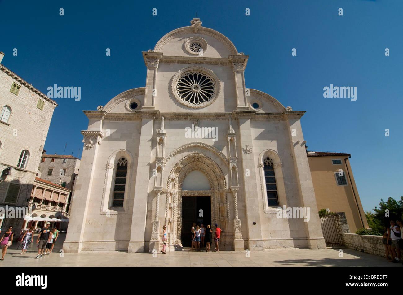Die Kathedrale von St. James, Sibenik, UNESCO World Heritage Site, Kroatien Stockbild