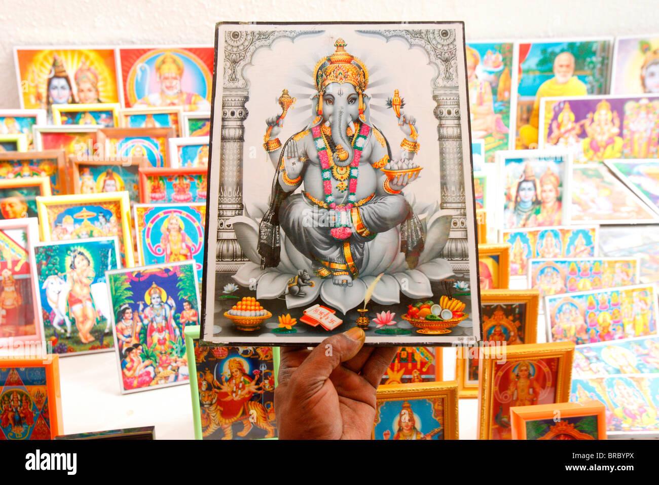 Ganesh Bilder, Dubai, Vereinigte Arabische Emirate Stockbild