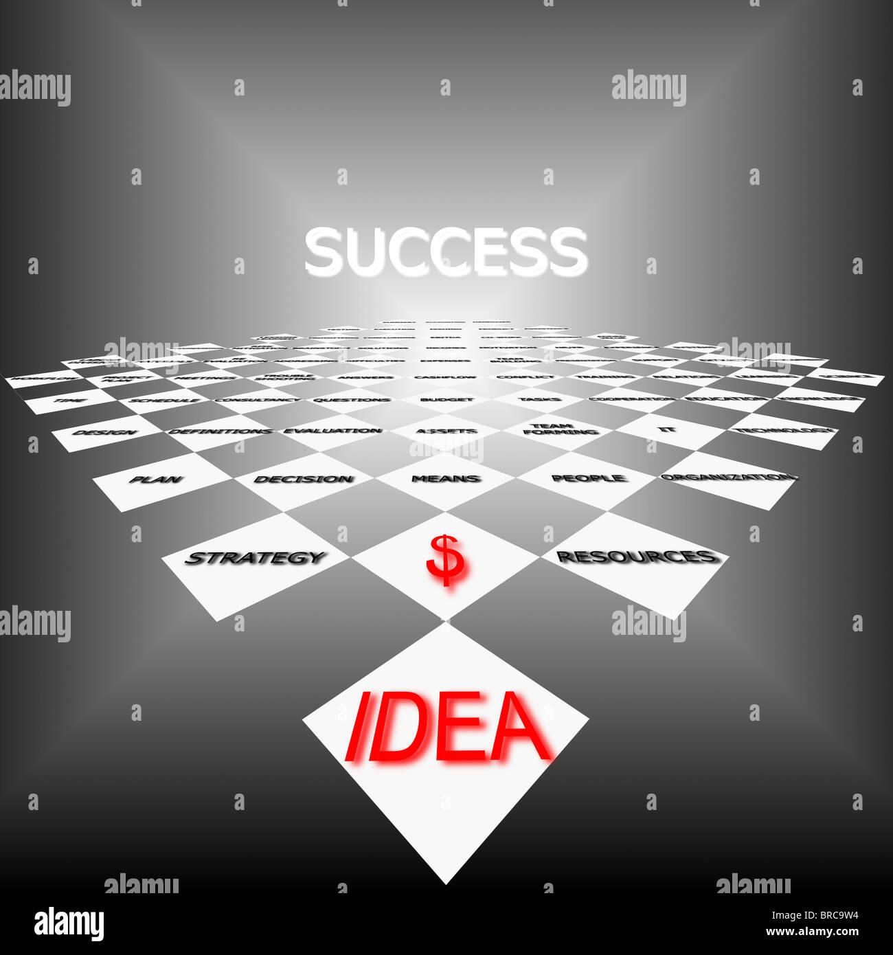 Erfolgsstrategie Stockbild