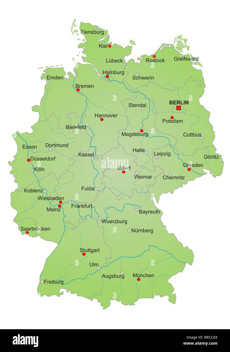 landkarte deutschland stockfotos landkarte deutschland. Black Bedroom Furniture Sets. Home Design Ideas