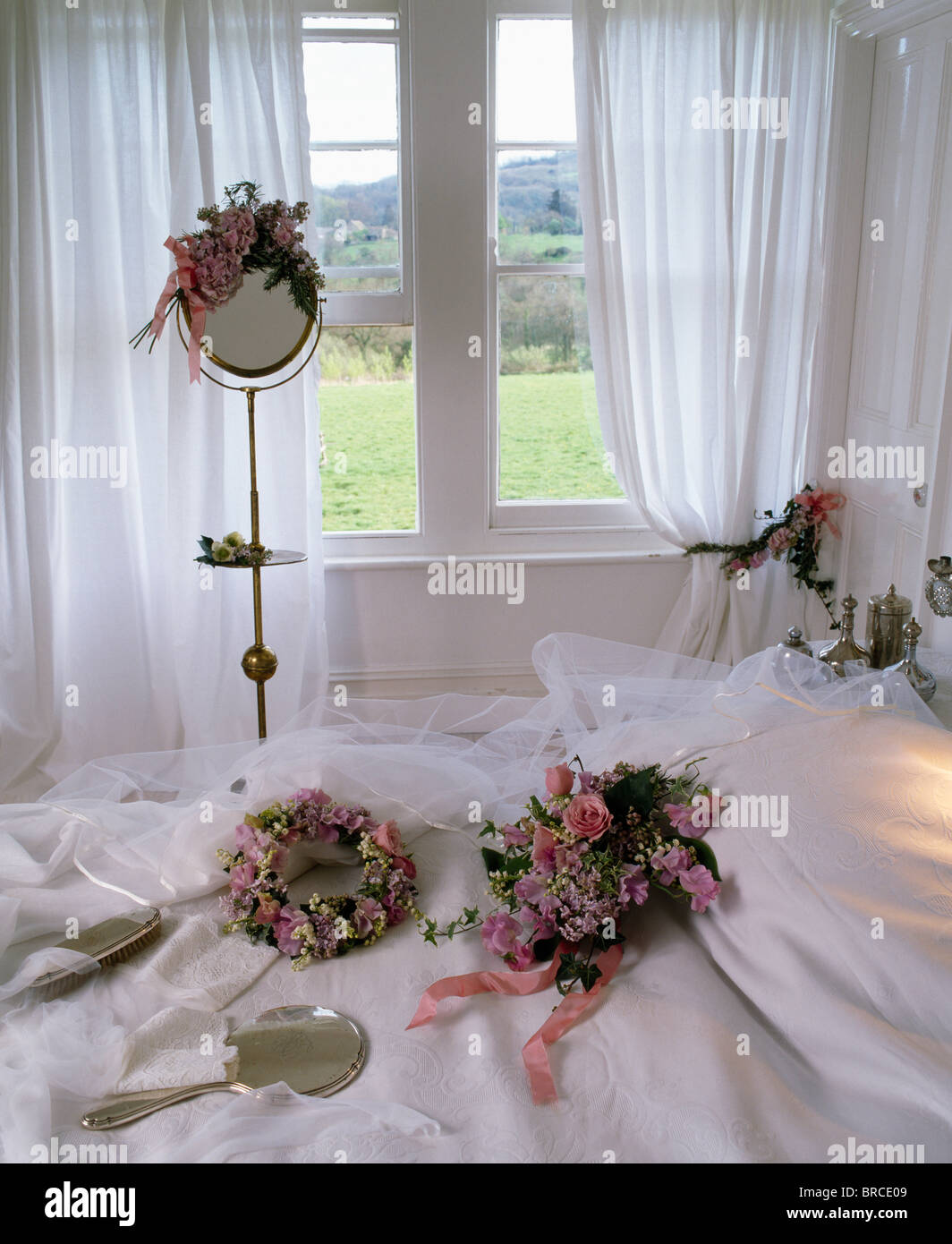 mirrors drapes soft furnishings stockfotos mirrors. Black Bedroom Furniture Sets. Home Design Ideas