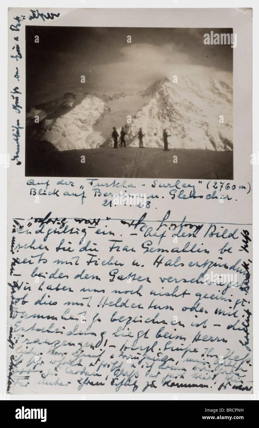 """""""Zürich 27.I.28. Mein lieber Herr Hitler, am Ende unserer Flitterwochen meine geliebte Frau hat nichts Stockbild"""