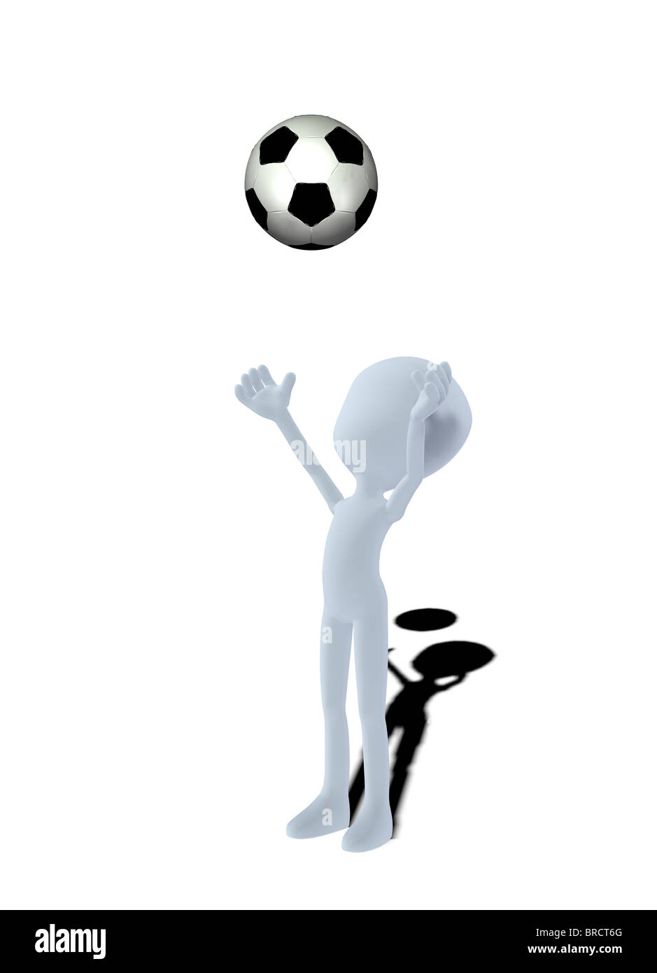 Konzept-Figur mit Fußball Stockbild