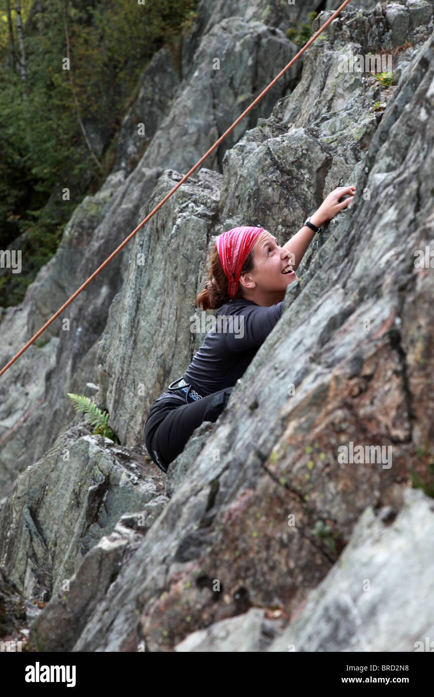 Mädchen Klettern, Chamonix, Alpen Stockbild