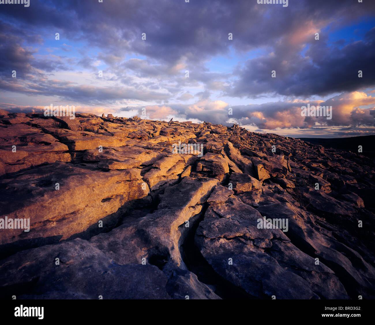 Der Burren, Co. Clare, Irland, Karstlandschaft Region Stockbild