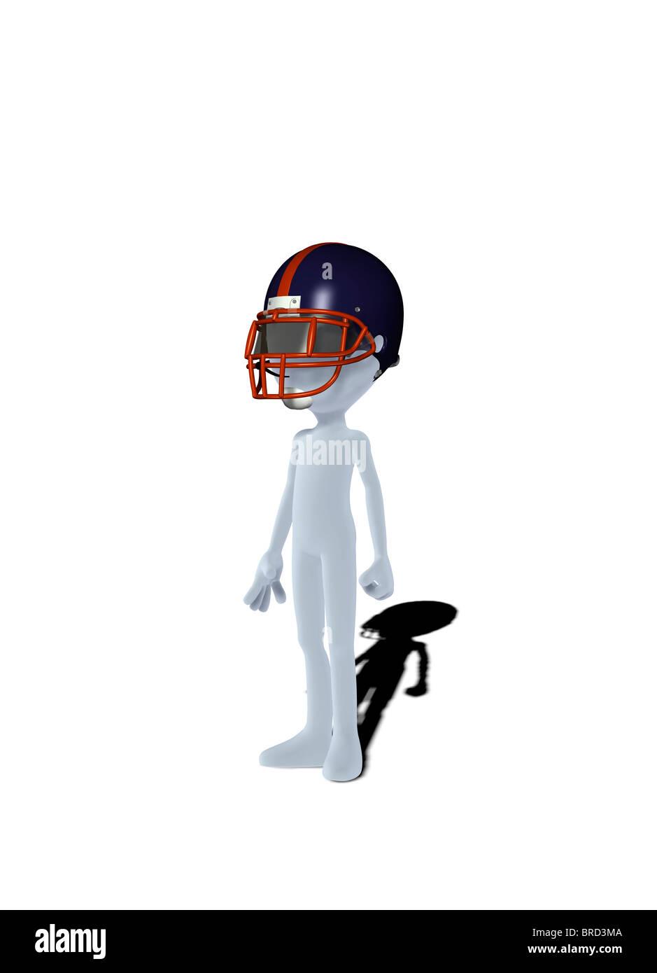 Konzept-Figur mit Helm Stockbild