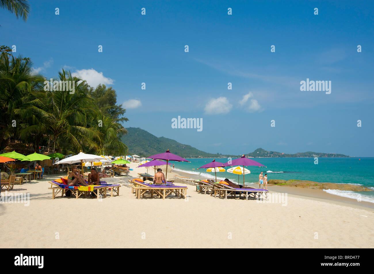 Lamai Beach, Ko Samui Insel, Thailand Stockbild