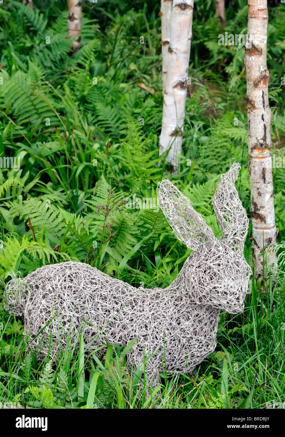 Hasen wie Figur Statue Skulptur Garten Holz Wald Draht Rattan ...