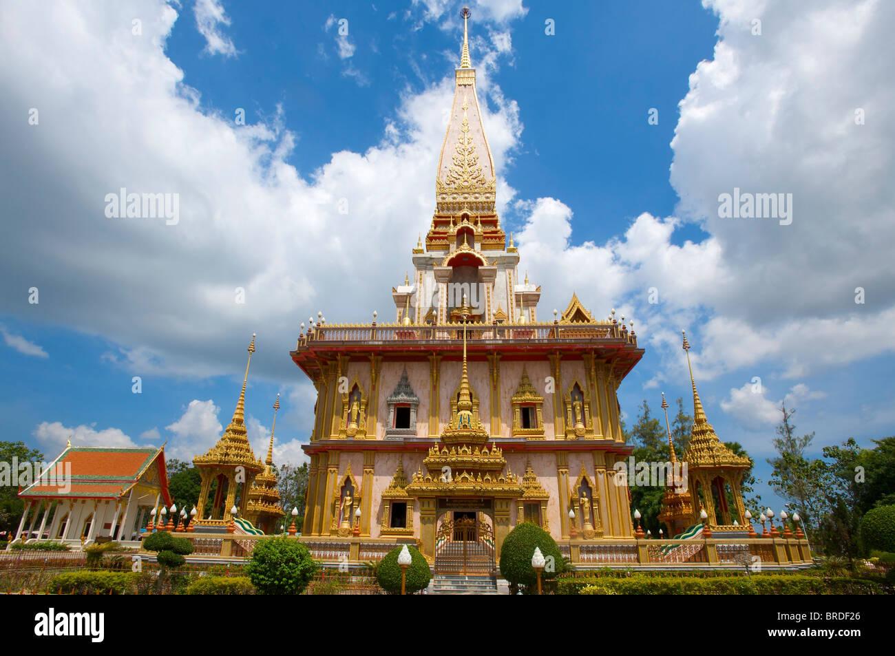 Wat Chalong Tempel, Phuket, Thailand Stockbild