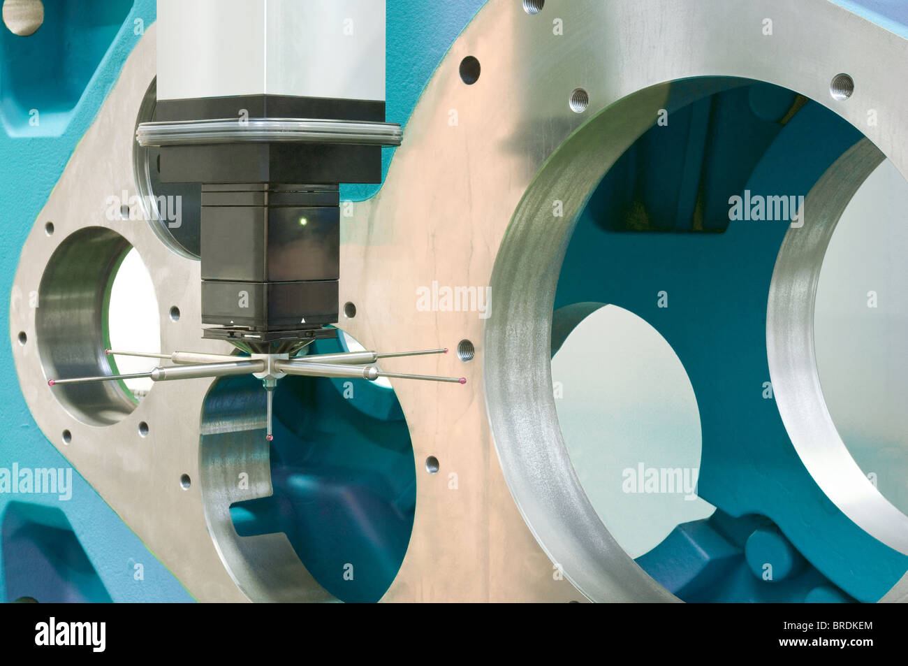3-d Koordinaten measurement Stockbild