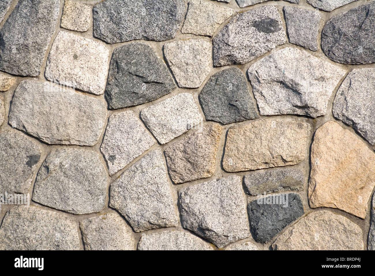 Stein Wand Muster für den Hintergrund Stockbild