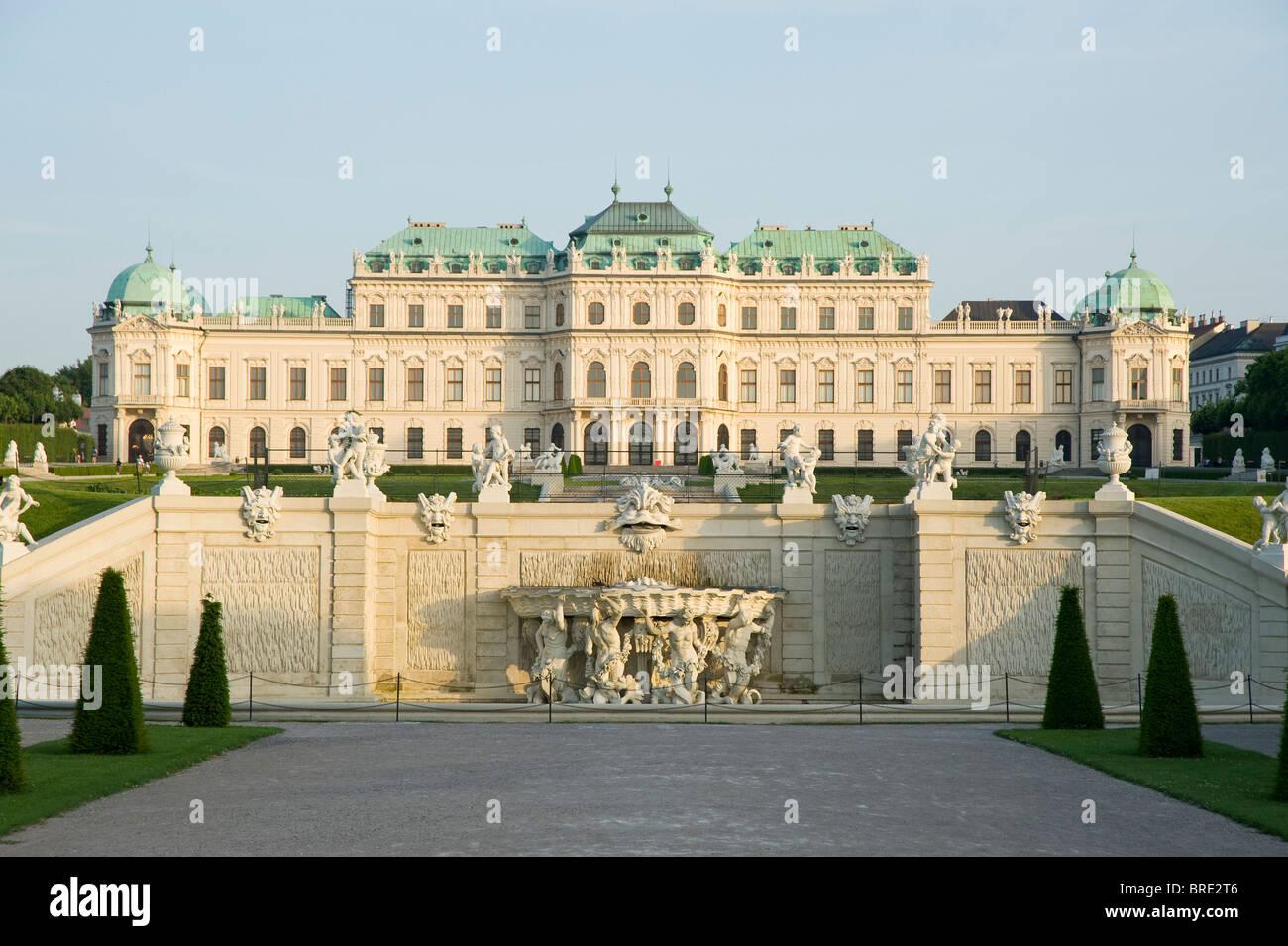 Wien, Belvedere Stockbild