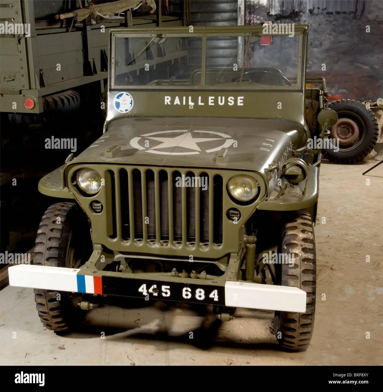 Willys Jeep, Alle über diese legendäre Fahrzeug gesagt wurde, zunächst auf den 11. November 1940. Stockbild