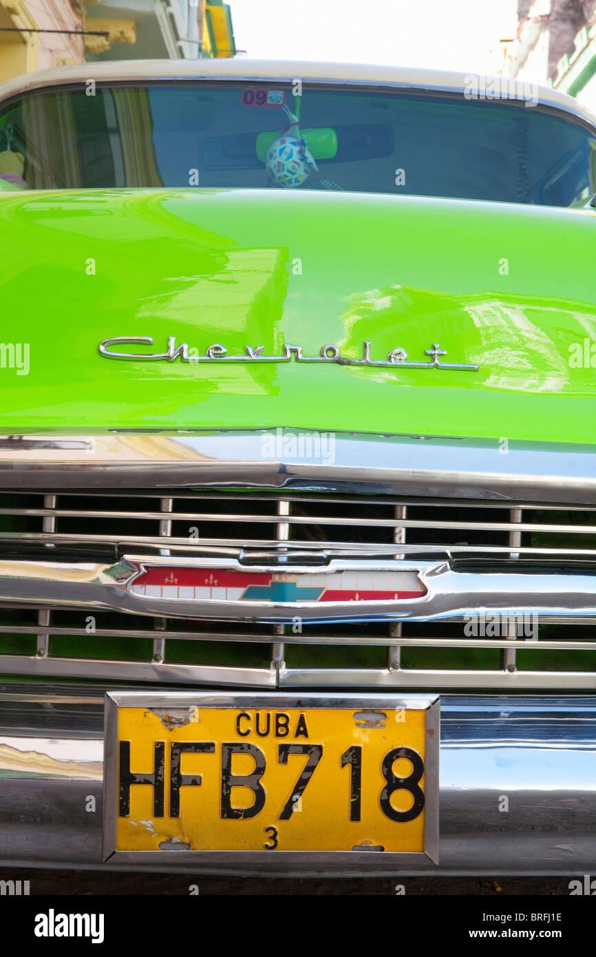 HAVANNA: OLDTIMER CHEVROLET AUTO Stockbild