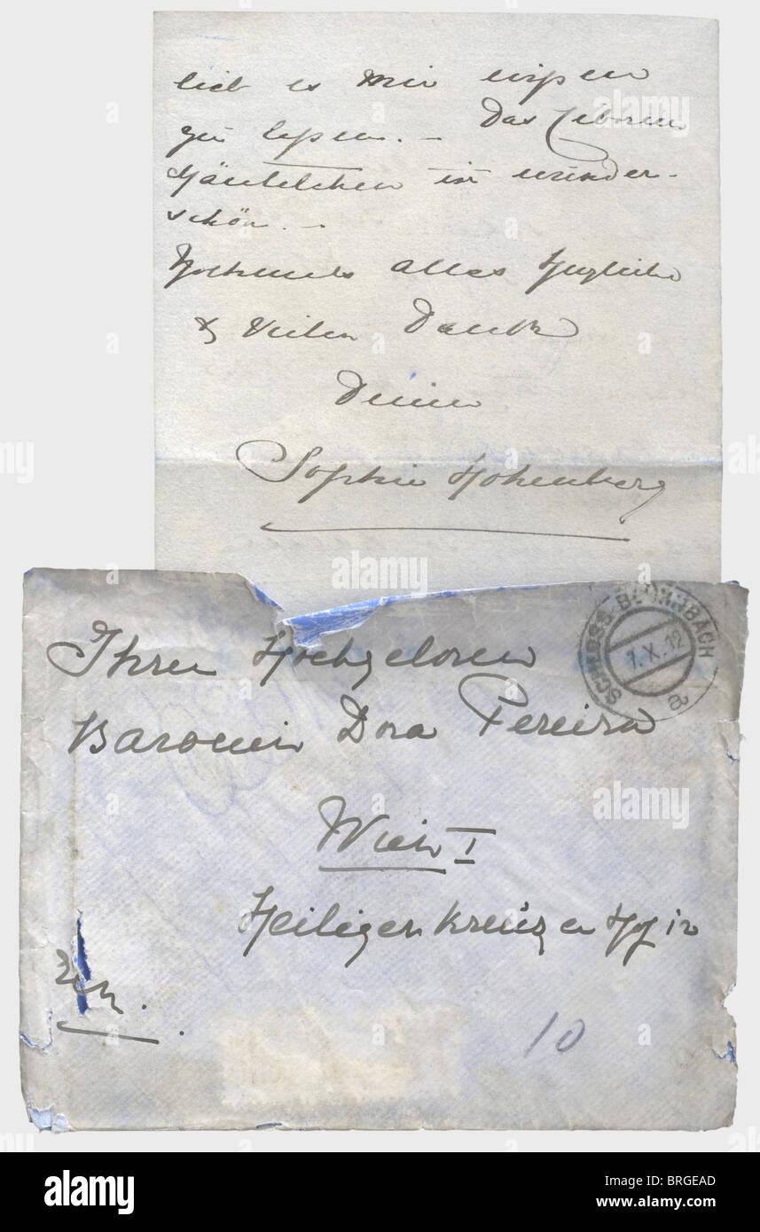 Herzogin Sophie Von Hohenberg 1868 1914 Zwei Briefe Von Der
