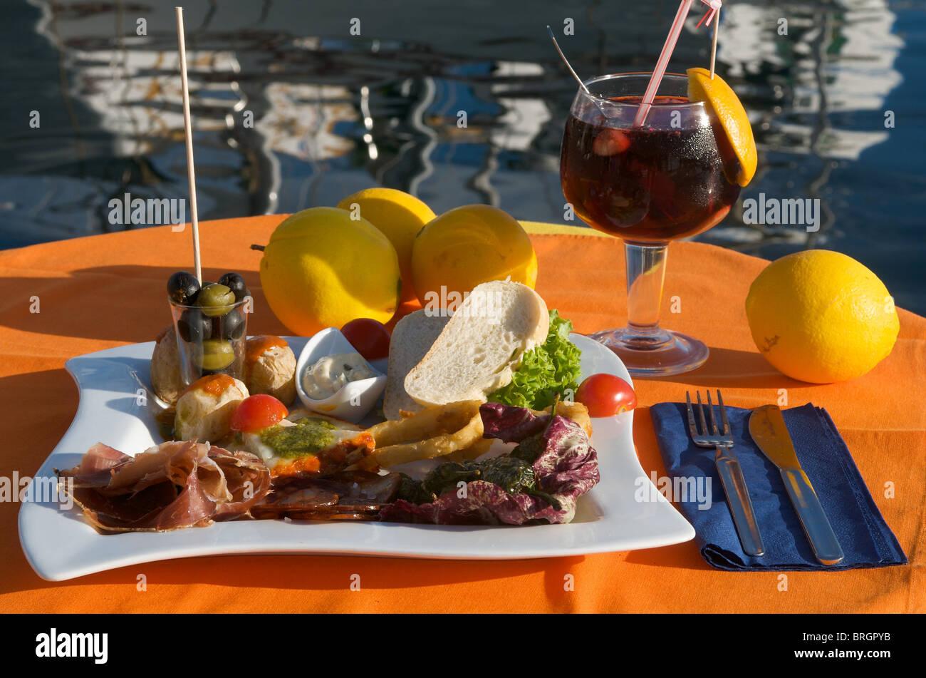 Restaurant in Puerto Mogan, Gran Canaria, Kanarische Inseln, Spanien Stockbild