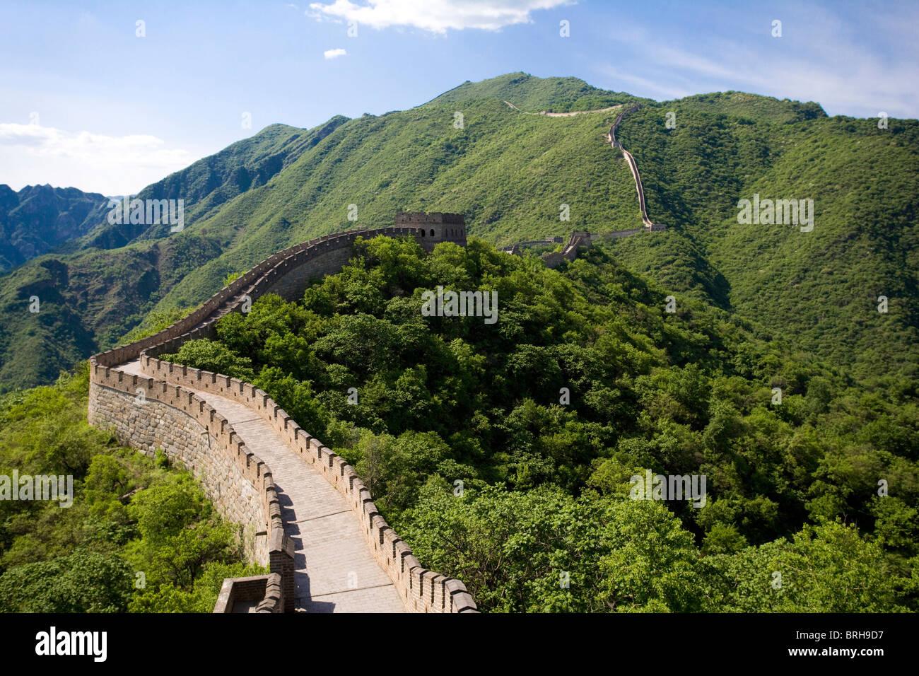 Die chinesische Mauer Mutianyu Stockbild