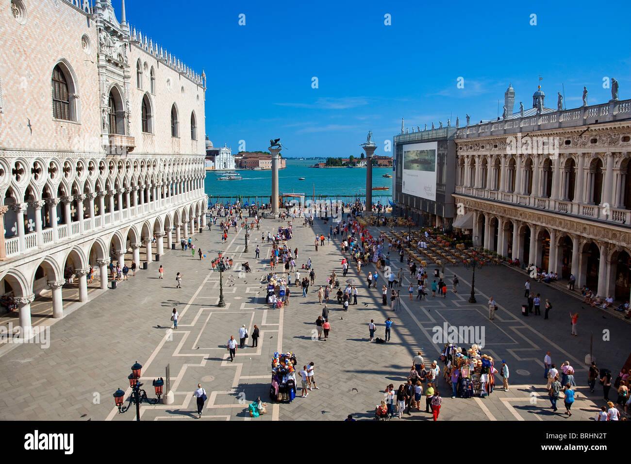 Europa, Italien, Venezia, Venedig, aufgeführt als Weltkulturerbe der UNESCO, Piazza San marco Stockbild