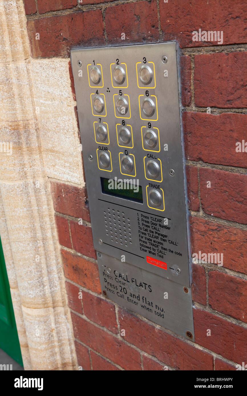 mehrere Wohnungen-Summer und Tür Entry-system Stockbild