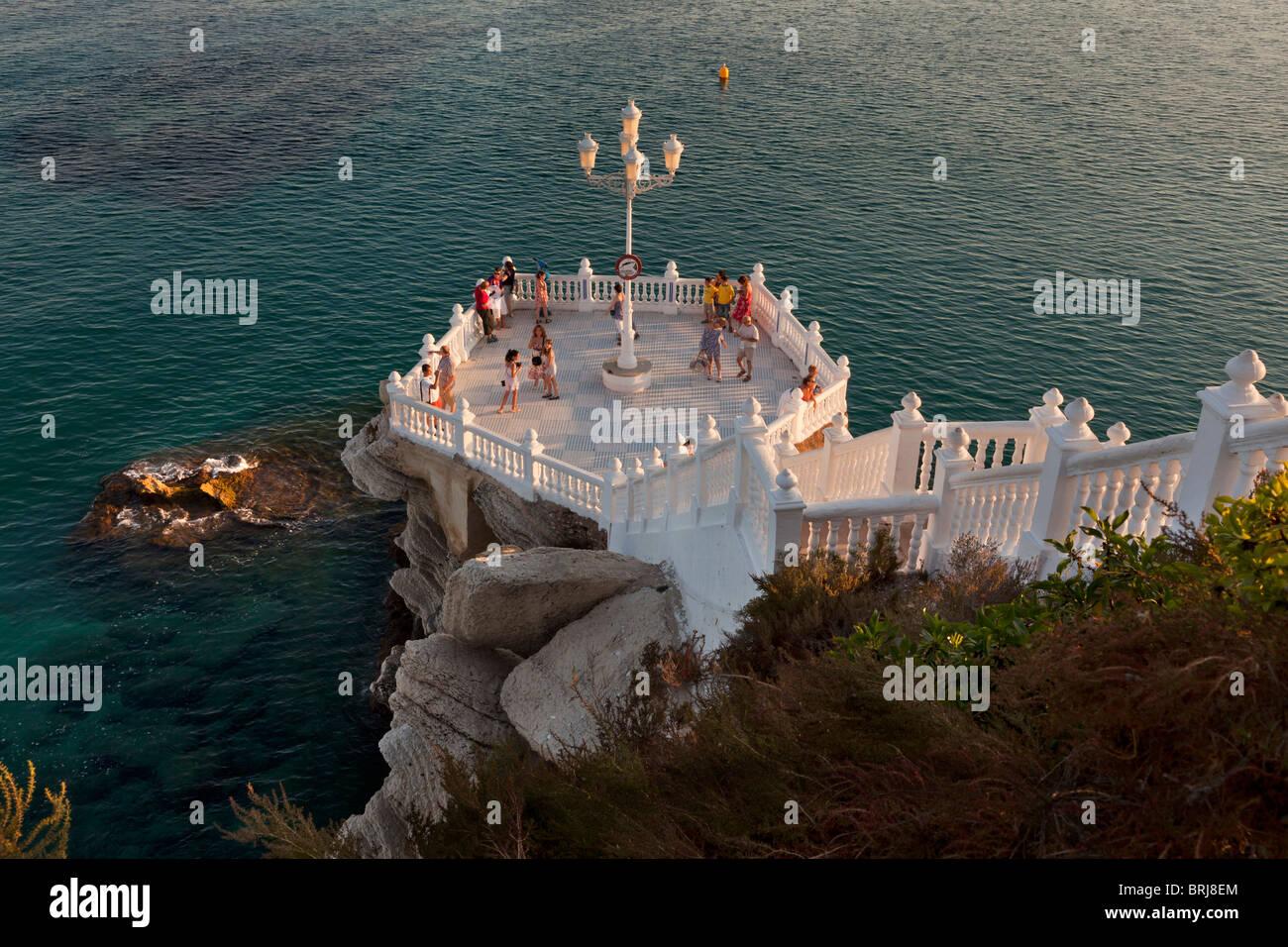 Aussichtsplattform Von Benidorm Burg Balkon Mediterran Benidorm