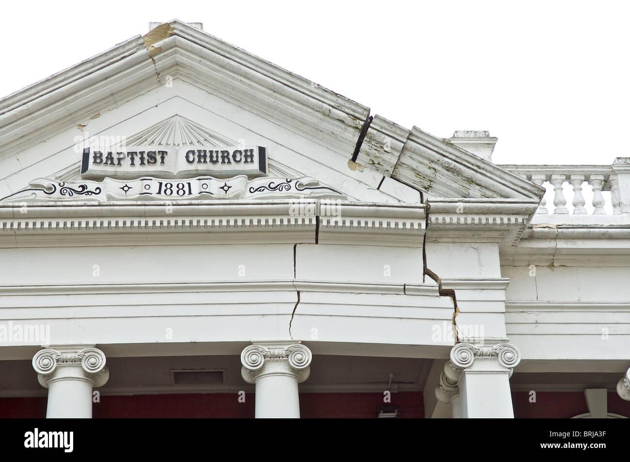 Schäden durch Erdbeben der Stärke 7,1, Christchurch, New Zealand, 4. September 2010. Stockbild