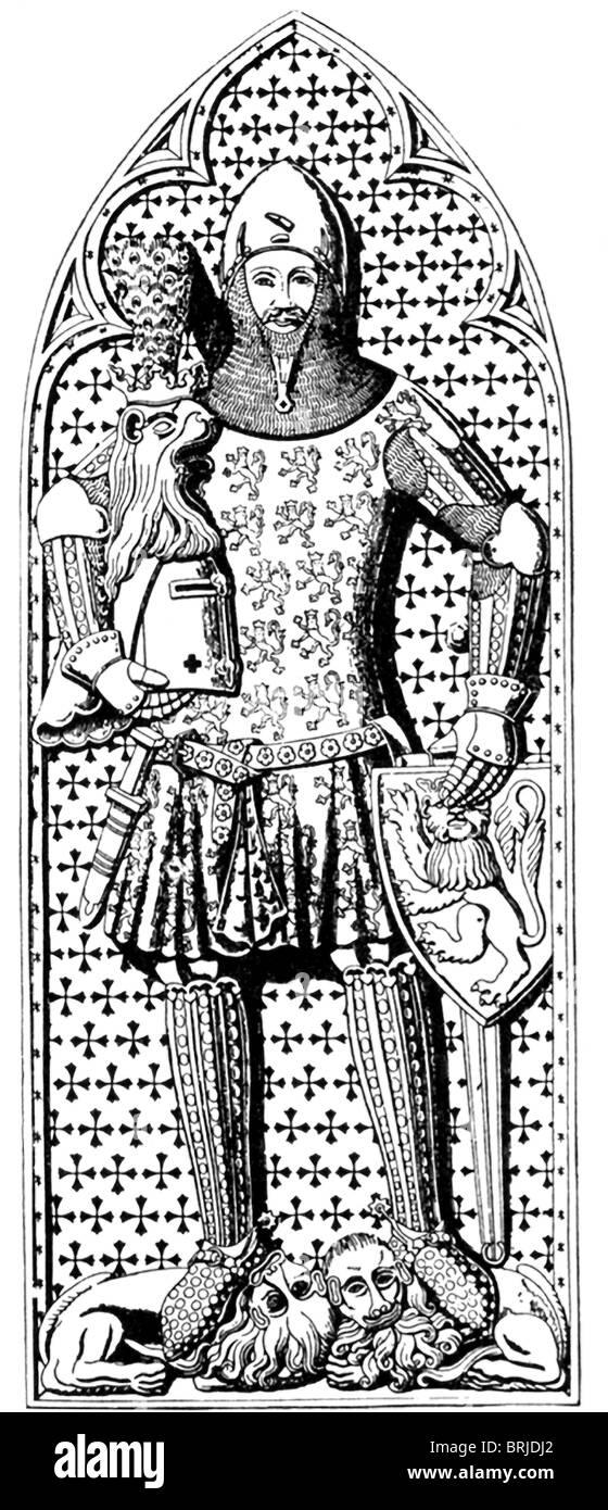Graf Günther von Schwarzburg, abgebildet, wurde als Rivale Heiliger römischer Kaiser Charles IV im Jahre Stockbild
