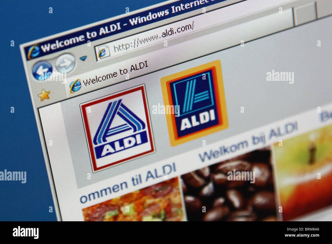 ALDI online einkaufen Stockbild
