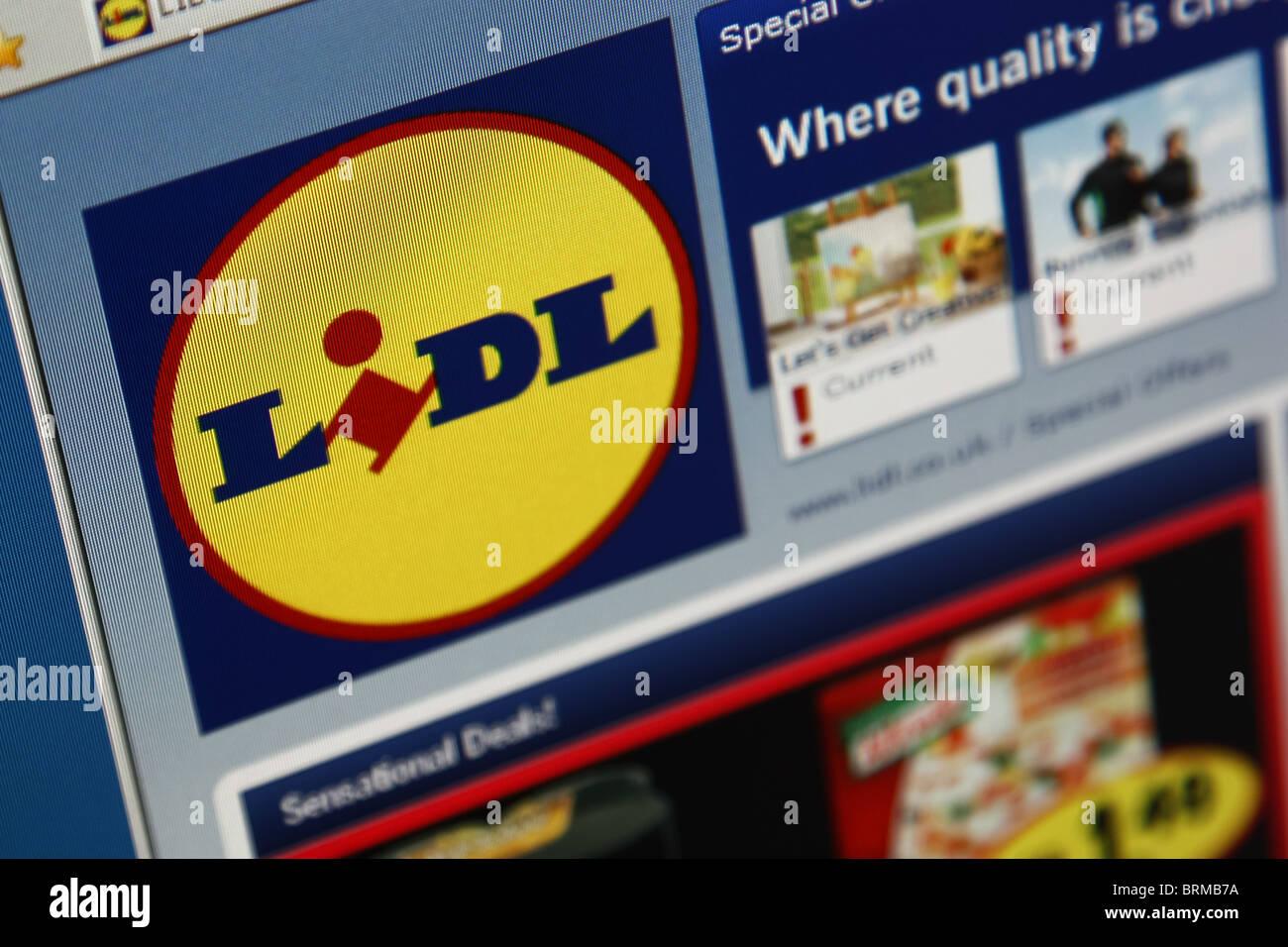 Lidl-Supermarkt-shopping-website Stockbild