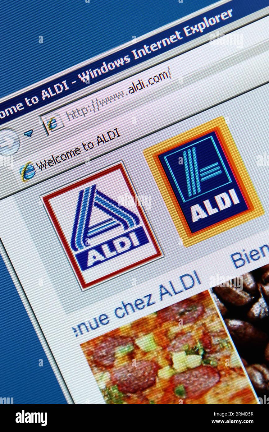 ALDI Lebensmittelgeschäfteinkaufen Stockbild