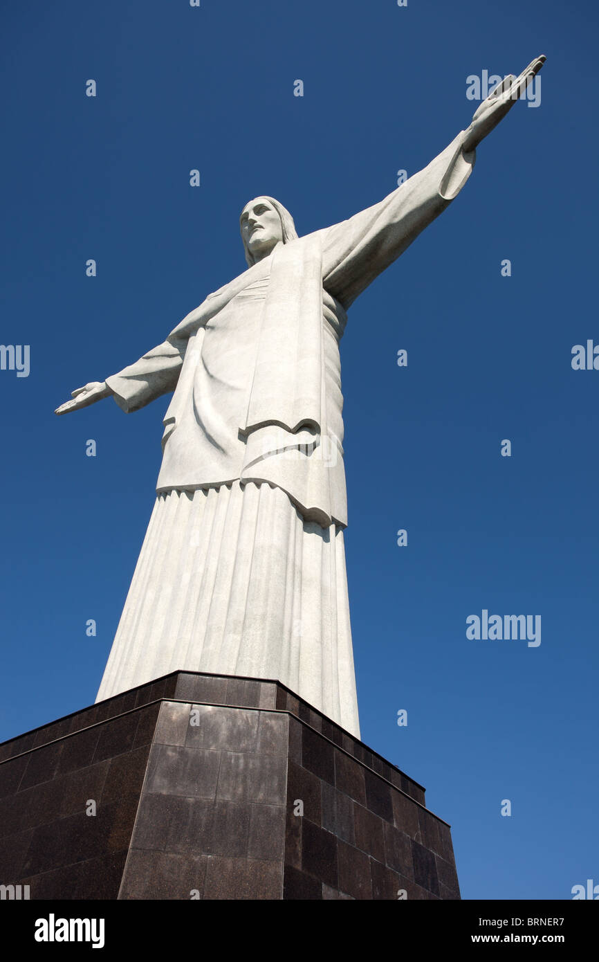 Rio De Janeiro: Corcovado Berg: Christus der Erlöser Stockfoto