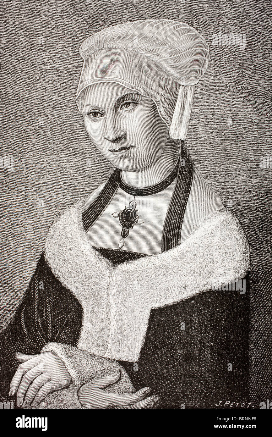 Barbara von Polen, 1478-1534. Prinzessin von Polen und Herzogin von Sachsen. Stockbild