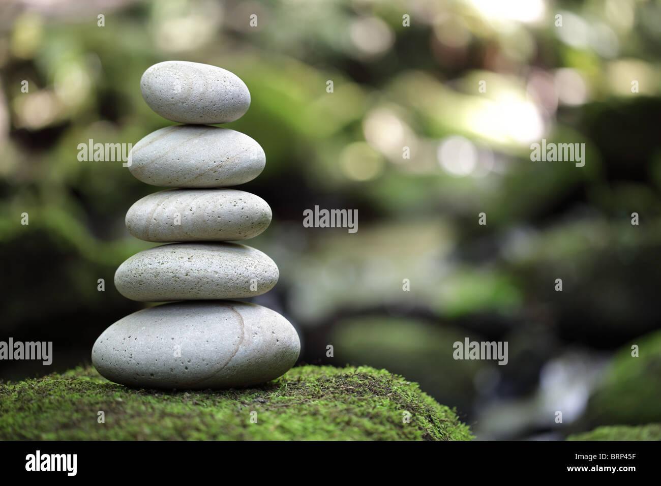 Ausgeglichenheit und Harmonie in der Natur Stockbild