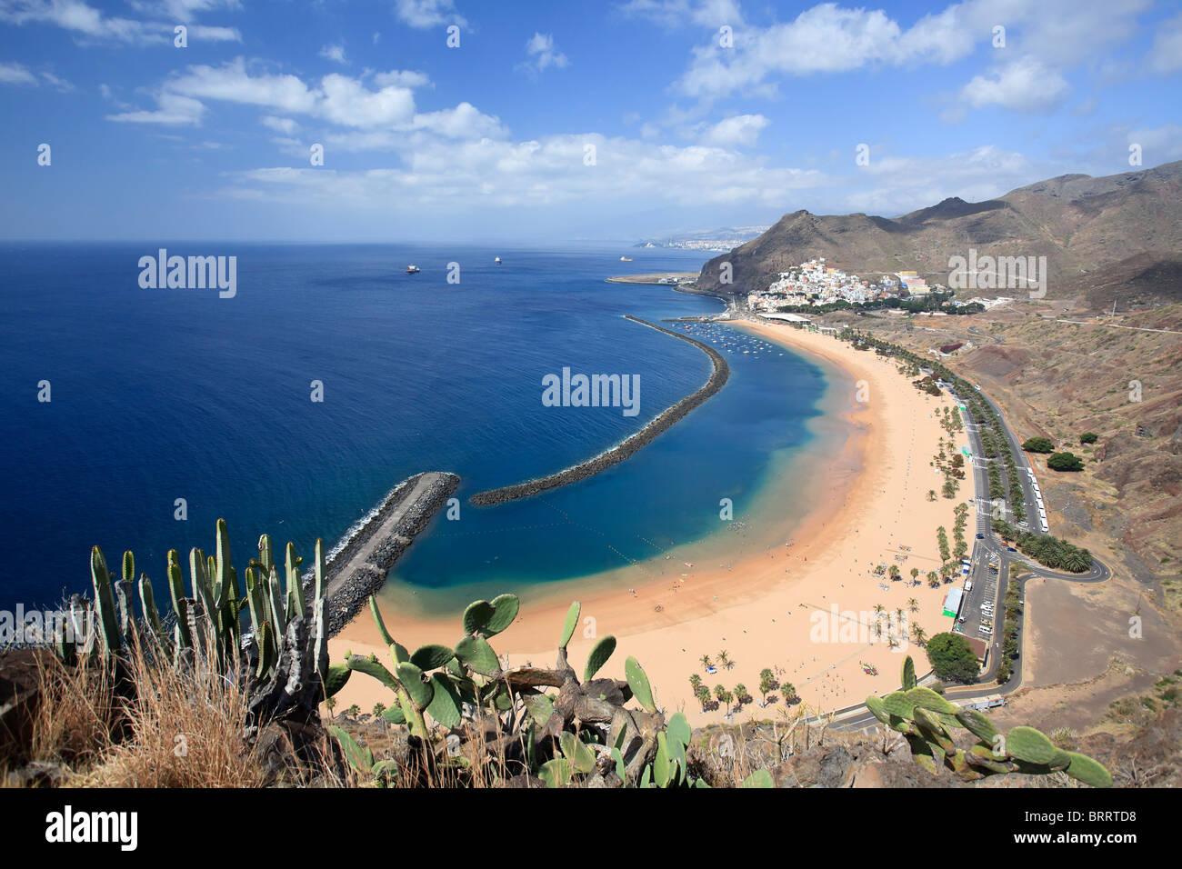 Kanarischen Inseln, Teneriffa, Playa de Las Teresitas Stockbild