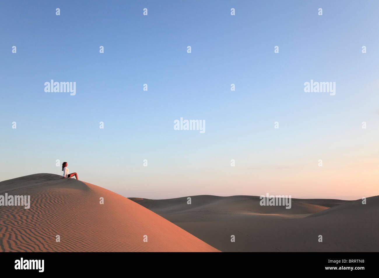 Kanarische Inseln, Gran Canaria, Playa del Ingles, Maspalomas Sand Dunes National Park (MR) Stockbild