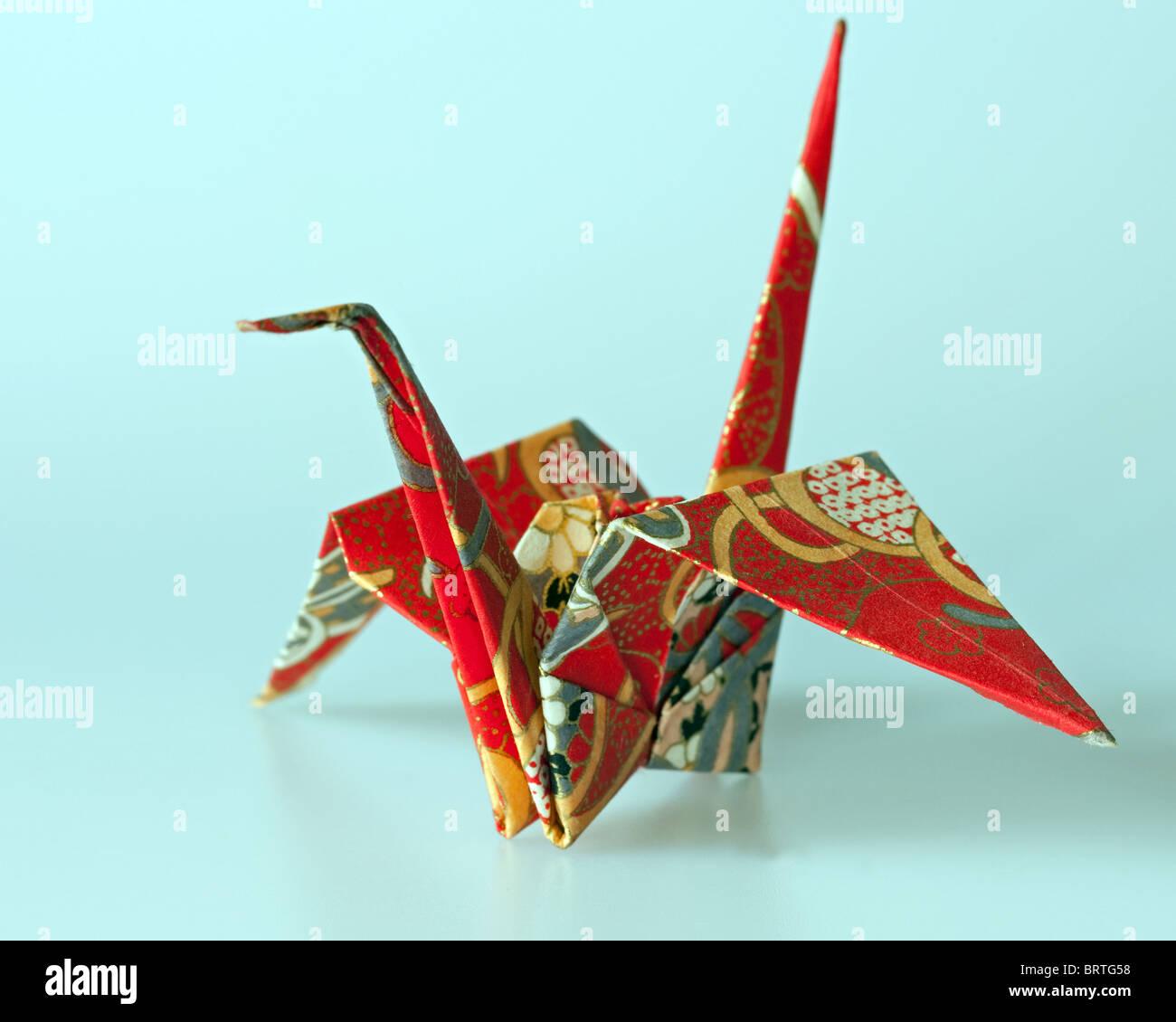 Japanische Origami-Kranich Stockbild