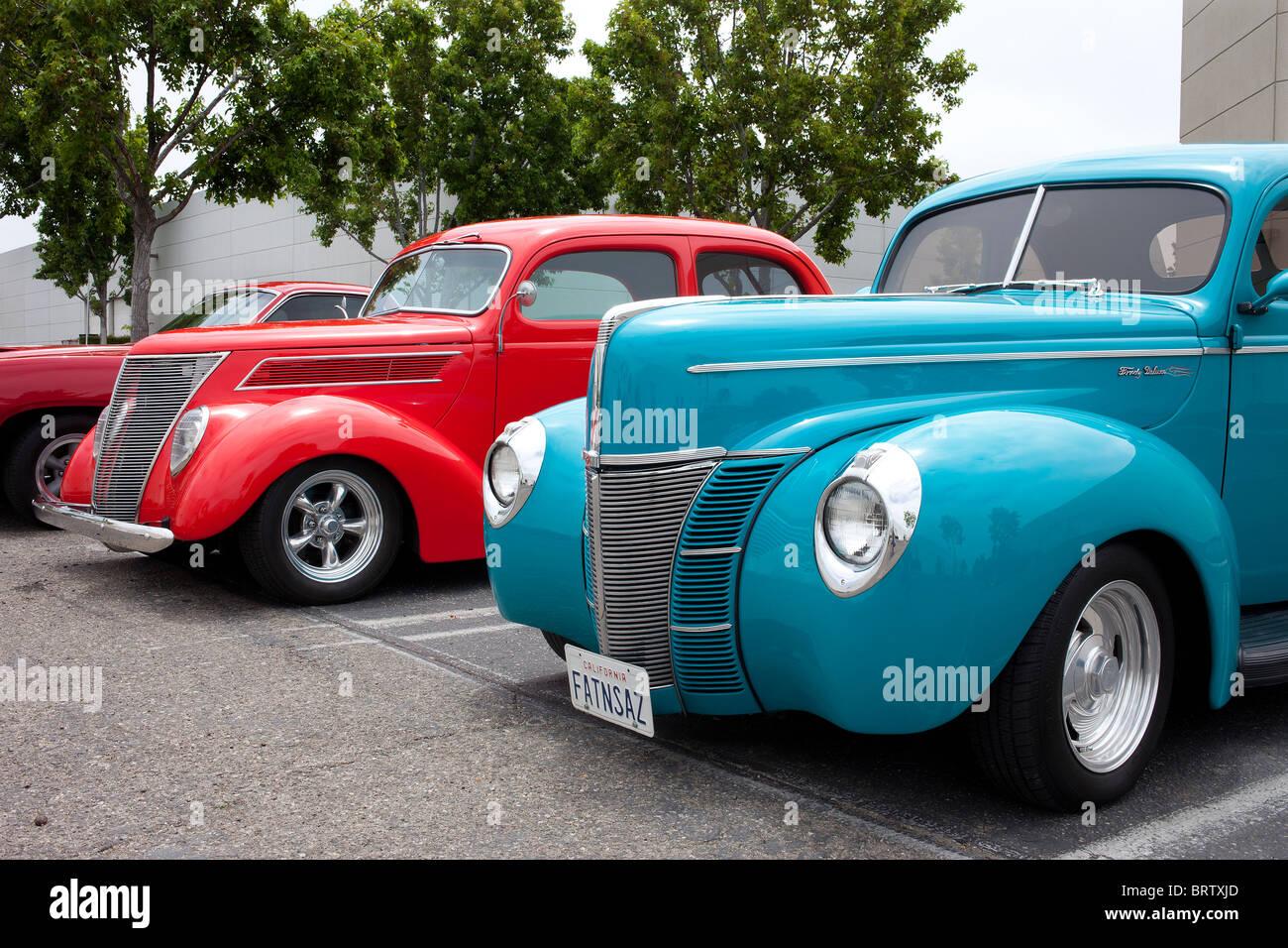De Luxe Ford motor Auto produziert durch Ford Motor Company im Jahr 1938 Stockbild