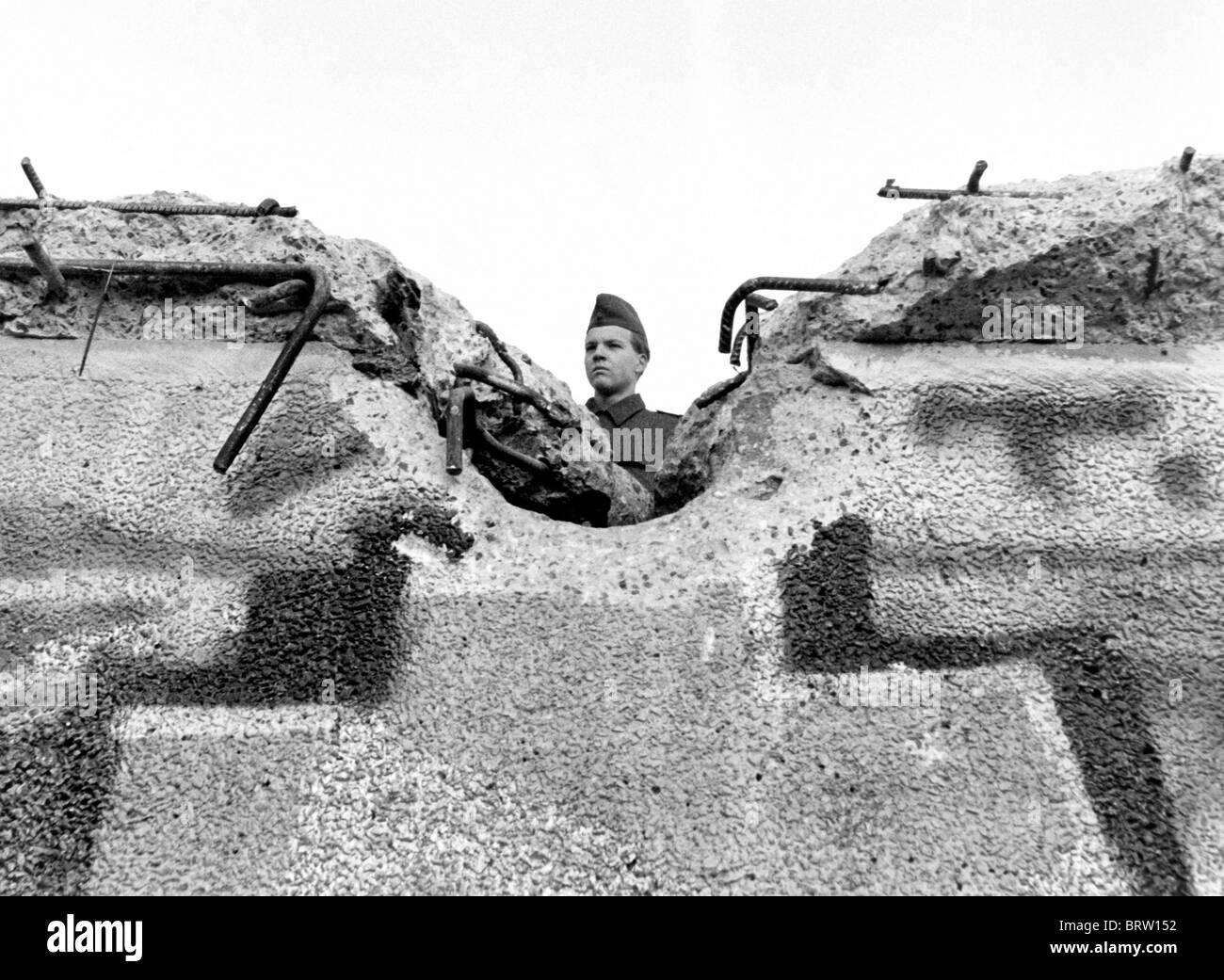 Fall der Berliner Mauer, Sonntag, 12. November 1989 Stockbild