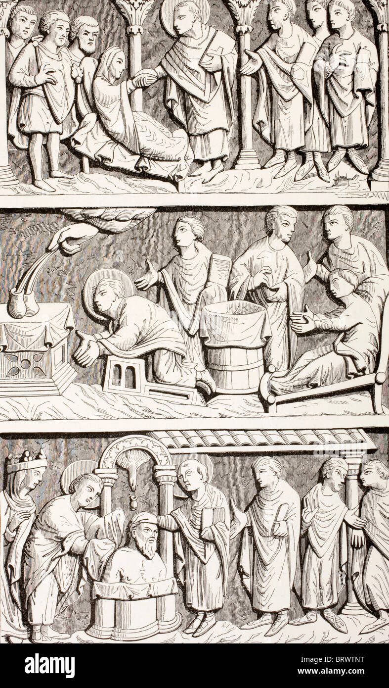 St. Remigius, Remy oder Remi. Stockbild