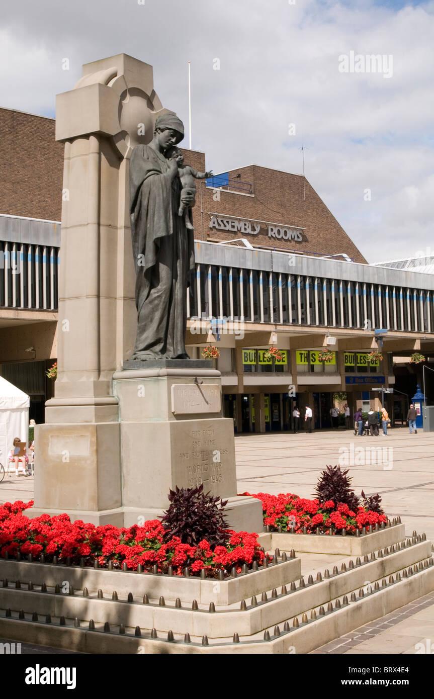 Krieg Denkmal-Gedenktag Versammlungsräumen Derby Veranstaltungsort für Konzerte Konzert snooker Finale Stockbild