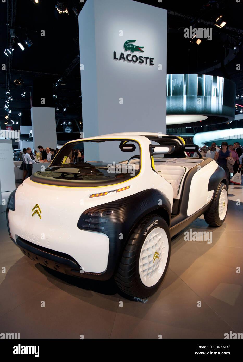 Citroen Lacoste-Konzept-Fahrzeug auf der Paris Motor Show 2010 Stockbild