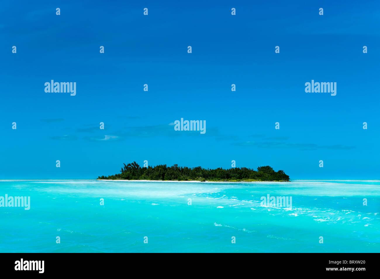 Remote-Karibik-Insel Stockbild