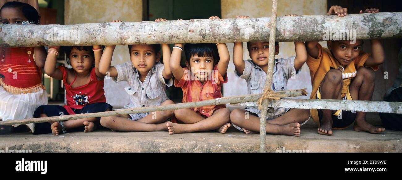 Indien, 2010-10-01, Kinder in Mumbai © Gerhard Leber Stockbild