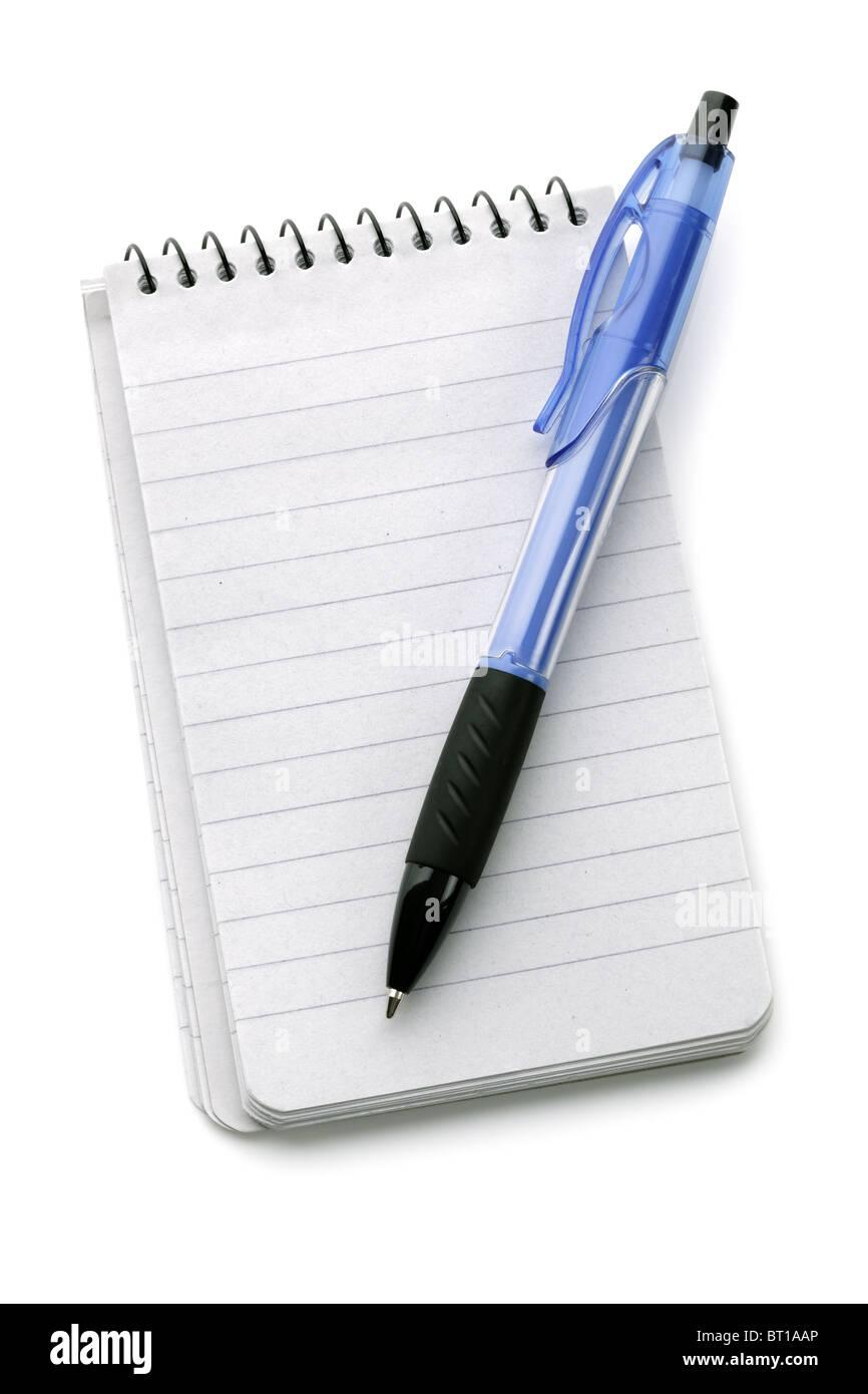 Notizbuch und Kugelschreiber Stockbild