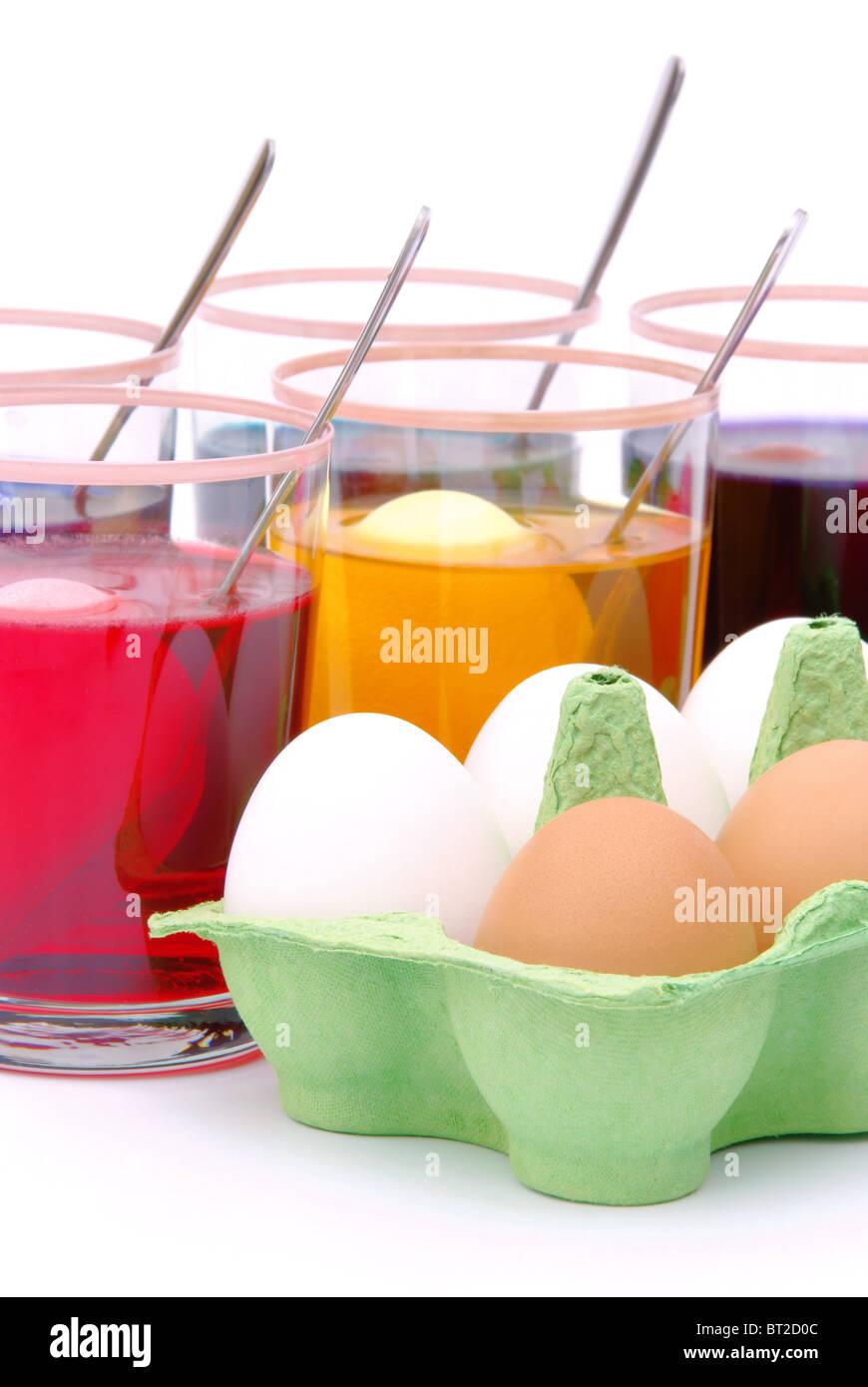 Ostereier Färben - Eiern Ostern Farbe 05 Stockbild