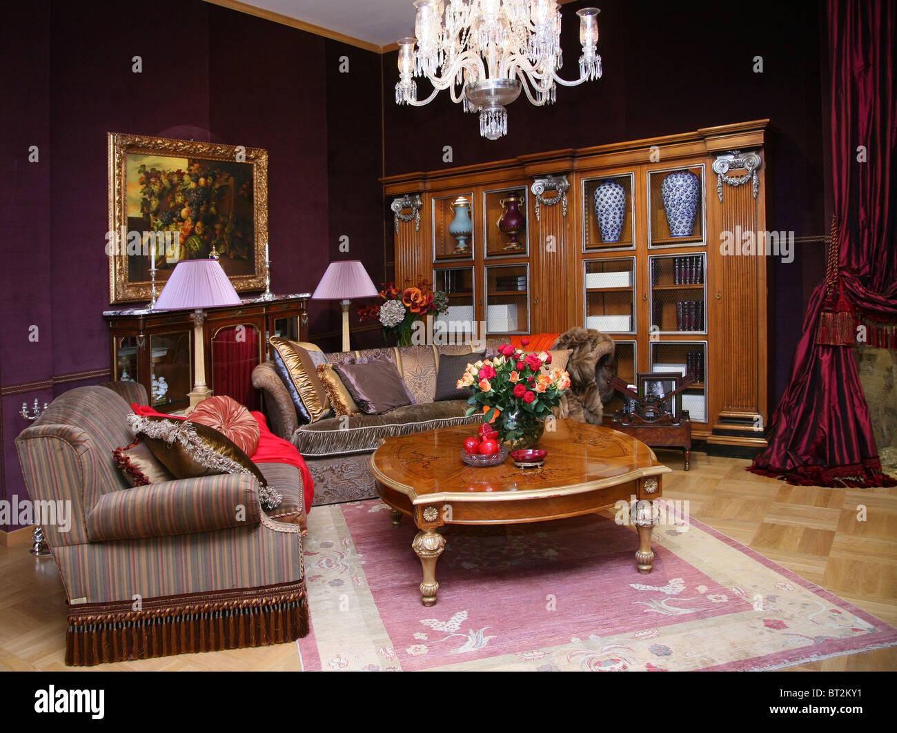 Klassische Wohnzimmer. Stockbild